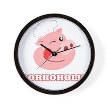 Porkoholic Wall Clock