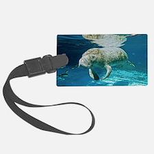 Florida manatee swimming Luggage Tag