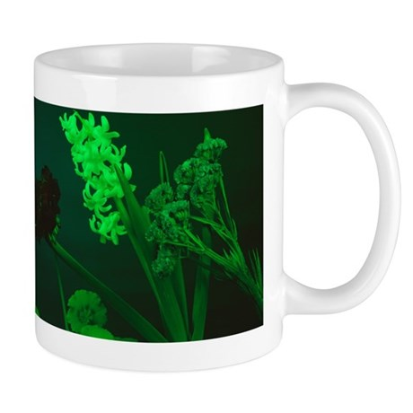 Flowers under green light Mug