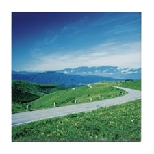 Winding country road,  Nagano,  Japan Tile Coaster
