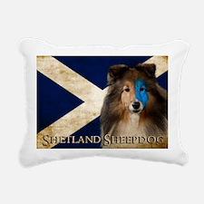 Braveheart Sheltie Rectangular Canvas Pillow