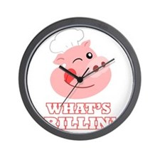 Whats Grillin? Wall Clock