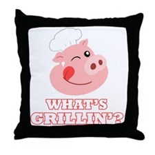 Whats Grillin? Throw Pillow
