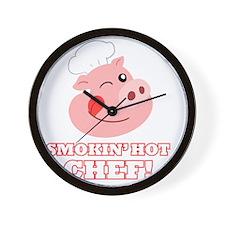 Smokin Hot Chef Wall Clock