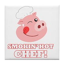 Smokin Hot Chef Tile Coaster