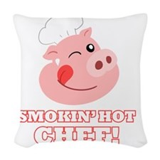 Smokin Hot Chef Woven Throw Pillow