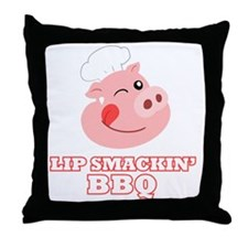 Lip Smackin BBQ Throw Pillow