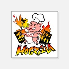 "Hogzilla Square Sticker 3"" x 3"""