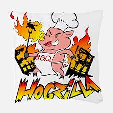 Hogzilla Woven Throw Pillow