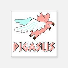 """Pigasus Square Sticker 3"""" x 3"""""""