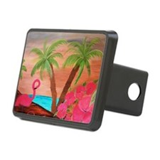 Flamingo in paradise Hitch Cover