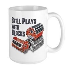 Still Plays With Blocks Mugs