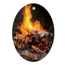 Fire Oval Ornament