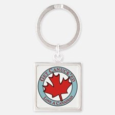 Get Canucked / Square Keychain