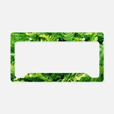 Fern leaves License Plate Holder