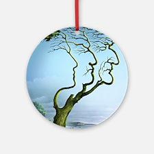 Family tree, conceptual artwork Round Ornament