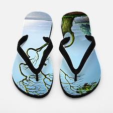 Family tree, conceptual artwork Flip Flops