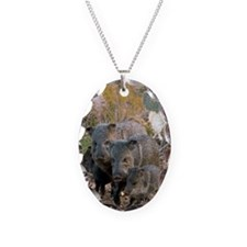 Family of Collared Peccaries Necklace