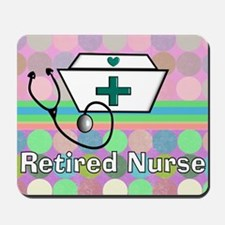 Retired Nurse Serving Tray Blanket Mousepad