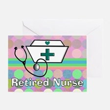 Retired Nurse Serving Tray Blanket Greeting Card