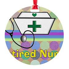retired nurse serving tray blanket  Ornament