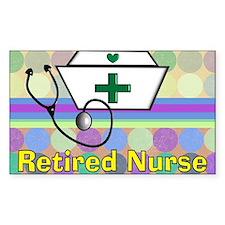 retired nurse serving tray bla Decal
