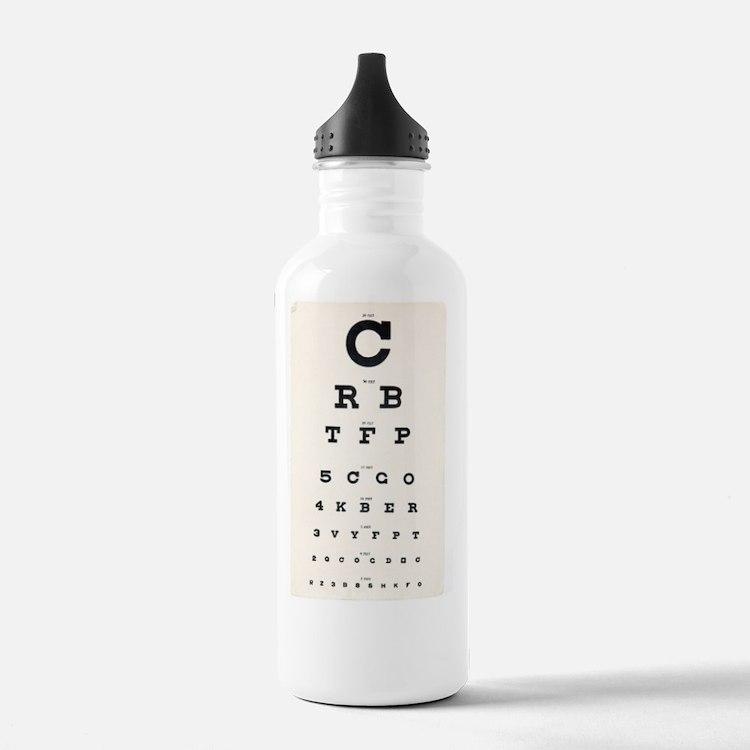 Eyesight test chart Water Bottle