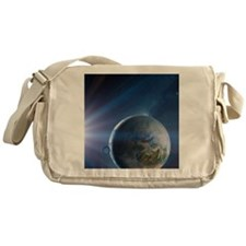 Extrasolar Earth-like planet, artwor Messenger Bag