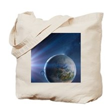 Extrasolar Earth-like planet, artwork Tote Bag