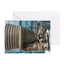 F1 engine on the Saturn V rocket Greeting Card