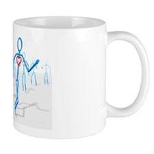 Exercise and cardiac health, artwork Mug