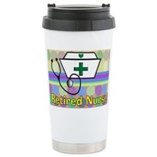 retired nurse serving tray blan Travel Mug