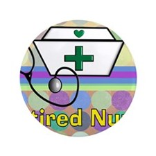 "retired nurse serving tray blanket 3 3.5"" Button"