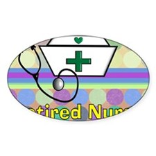 retired nurse serving tray blanket  Decal