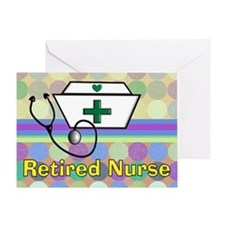retired nurse serving tray blanket 3 Greeting Card