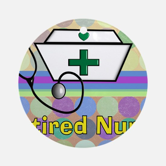 retired nurse serving tray blanket  Round Ornament