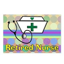 retired nurse serving tra Postcards (Package of 8)