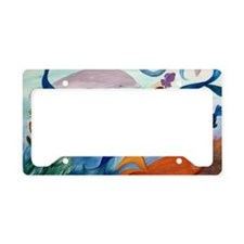 Tropical Fish and Mermaid Par License Plate Holder