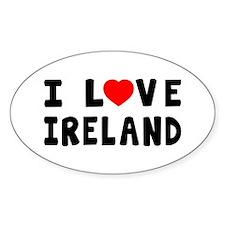 I Love Ireland Decal