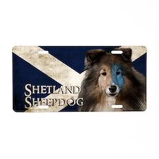 Braveheart Sheltie Aluminum License Plate