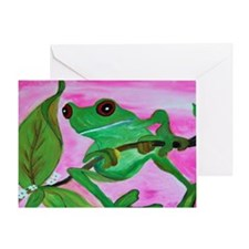 Sassy Frog Greeting Card