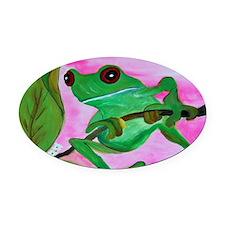 Sassy Frog Oval Car Magnet