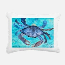 Blue Crab Rectangular Canvas Pillow