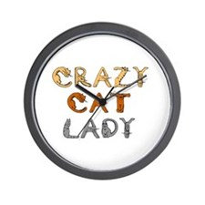 Crazy Cat Lady!!! Wall Clock