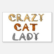 Crazy Cat Lady!!! Rectangle Decal
