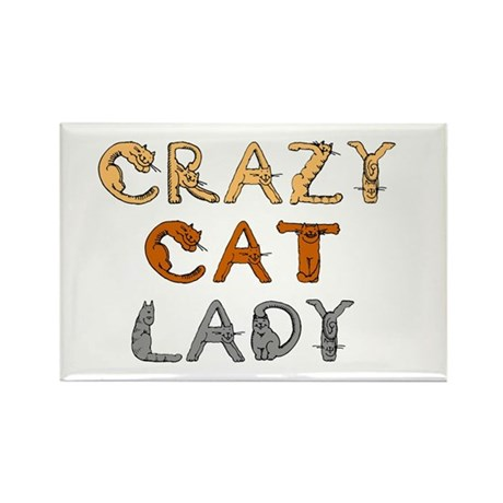 Crazy Cat Lady!!! Rectangle Magnet (100 pack)