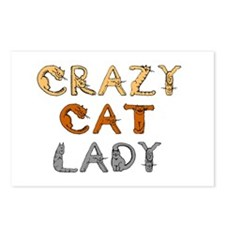 Crazy Cat Lady!!! Postcards (Package of 8)