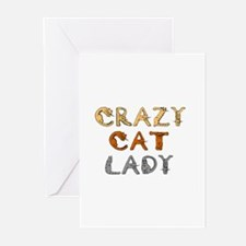 Crazy Cat Lady!!! Greeting Cards (Pk of 10)