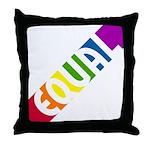 Equal Rainbow Throw Pillow