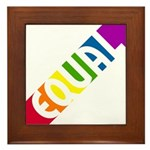 Equal Rainbow Framed Tile